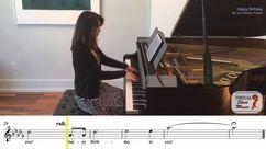 Happy Birthday Piano Accompaniment Video