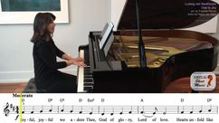 Ode to Joy Piano Accompaniment Video
